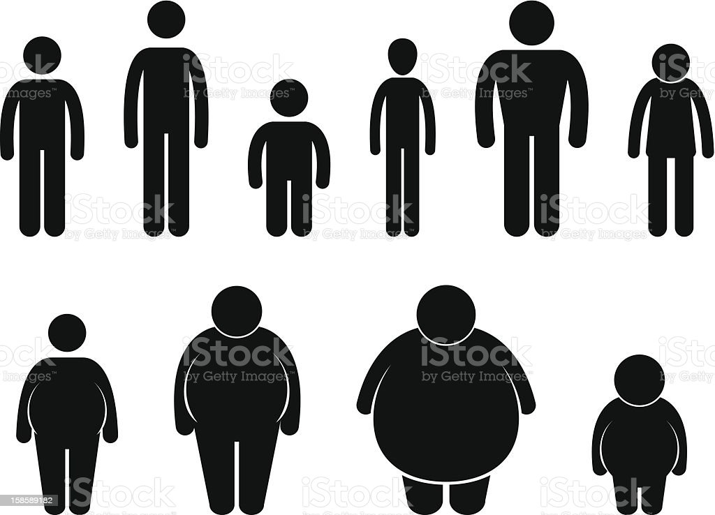 Man Body Figure Size Pictogram vector art illustration