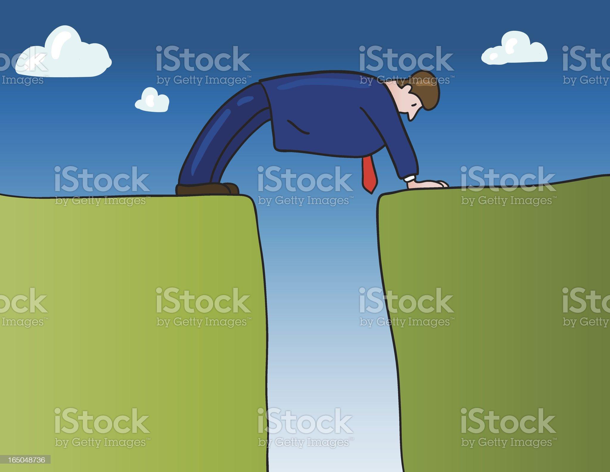 man bridge royalty-free stock vector art