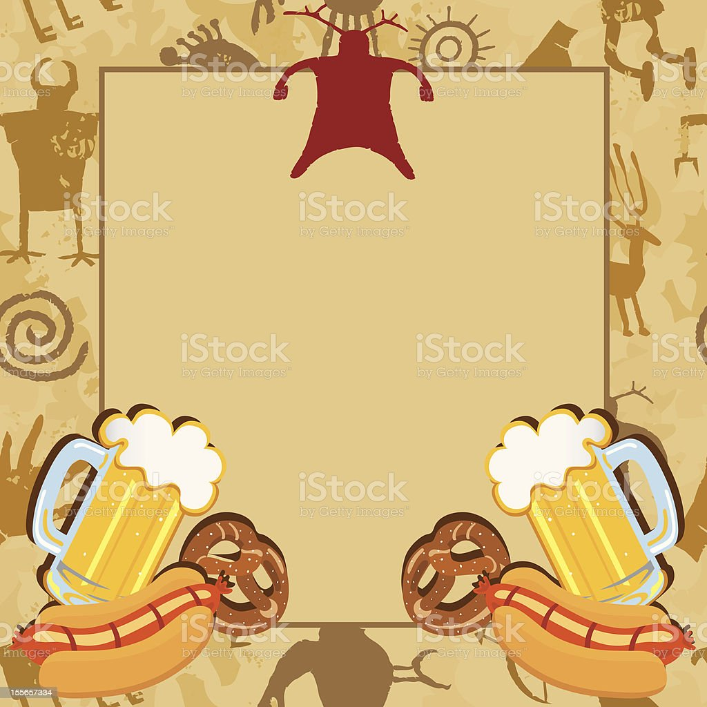 Man Cave Bachelor Party Invitation Card vector art illustration
