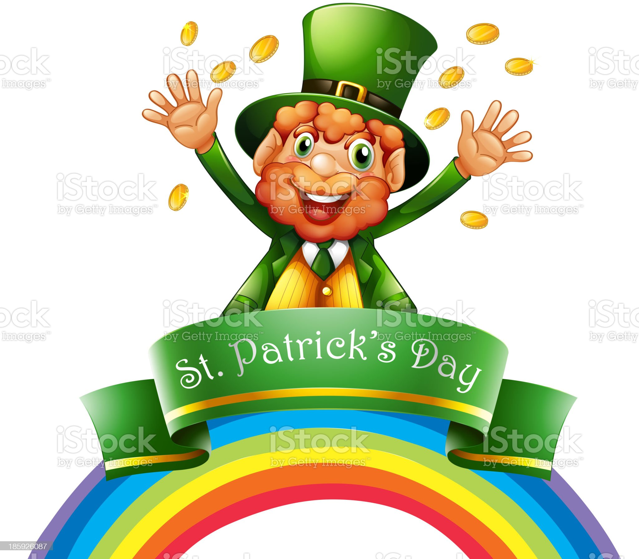 man celebrating the day of St. Patrick royalty-free stock vector art