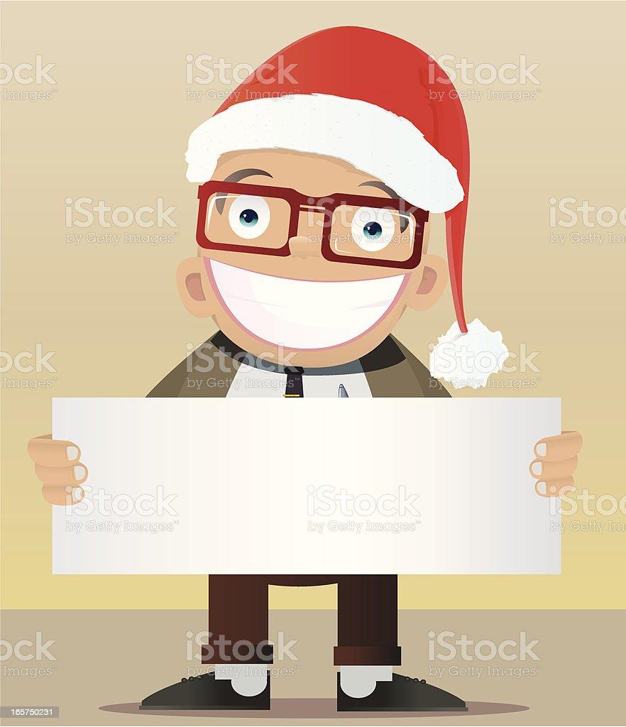 Man Christmas royalty-free stock vector art