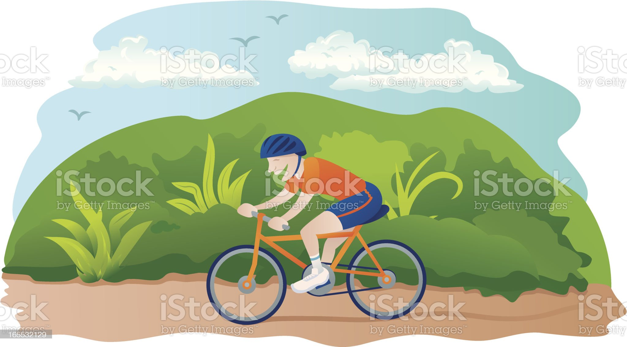 Man Cycling royalty-free stock vector art