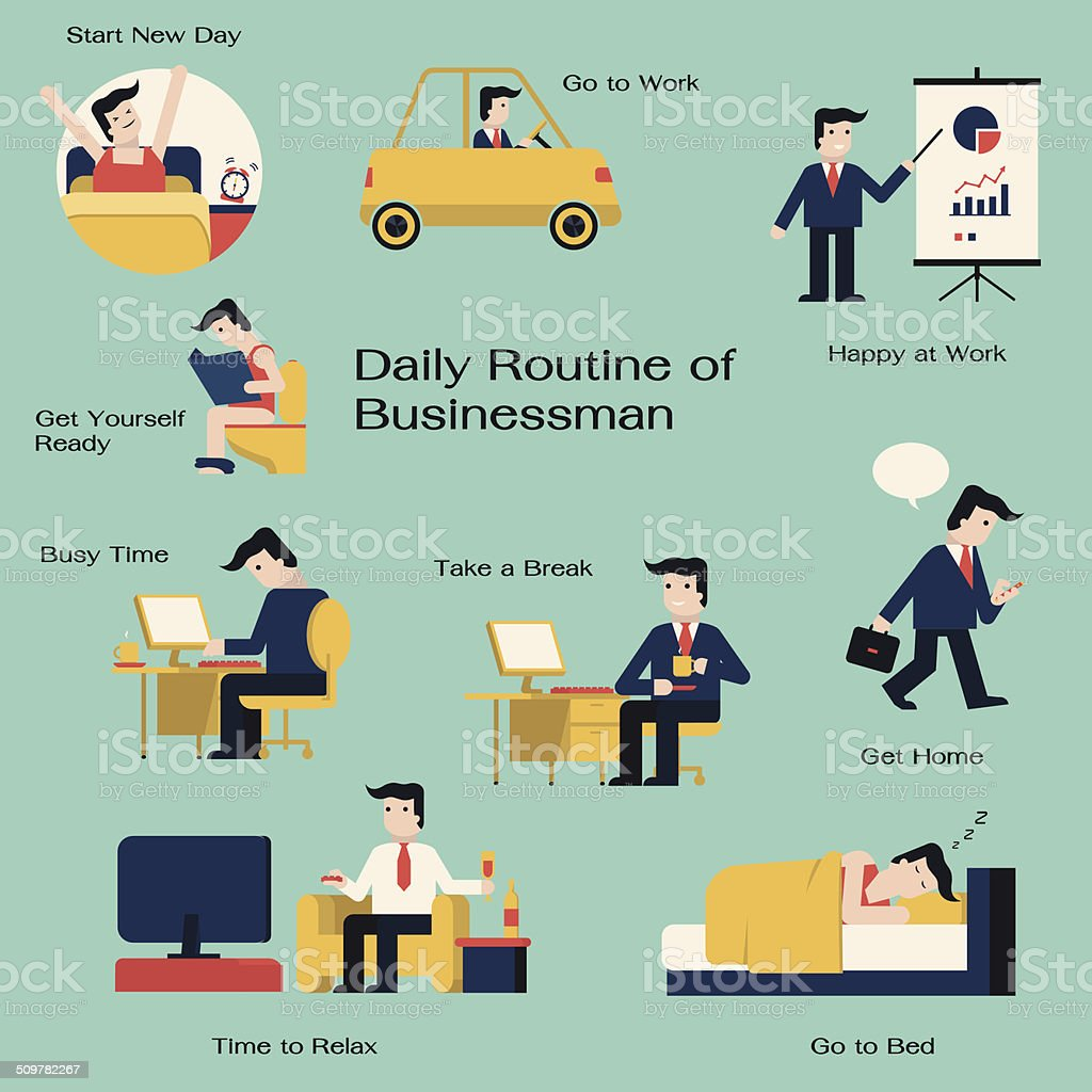 man daily vector art illustration