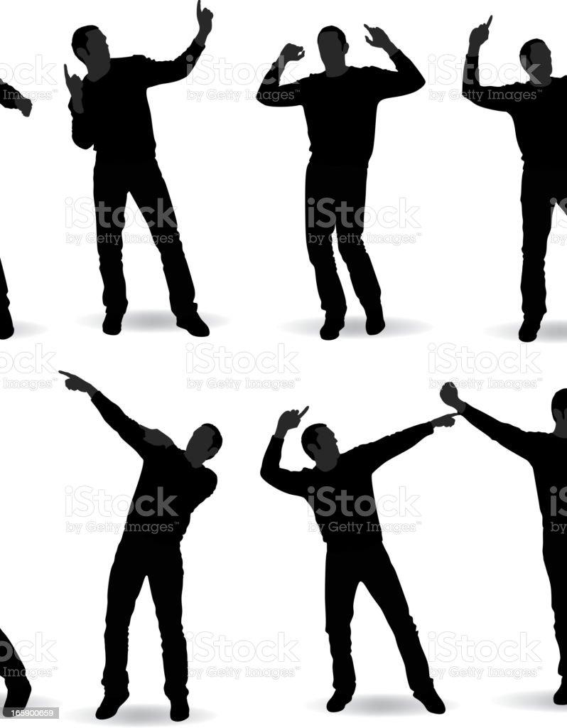 Man Dancing vector art illustration