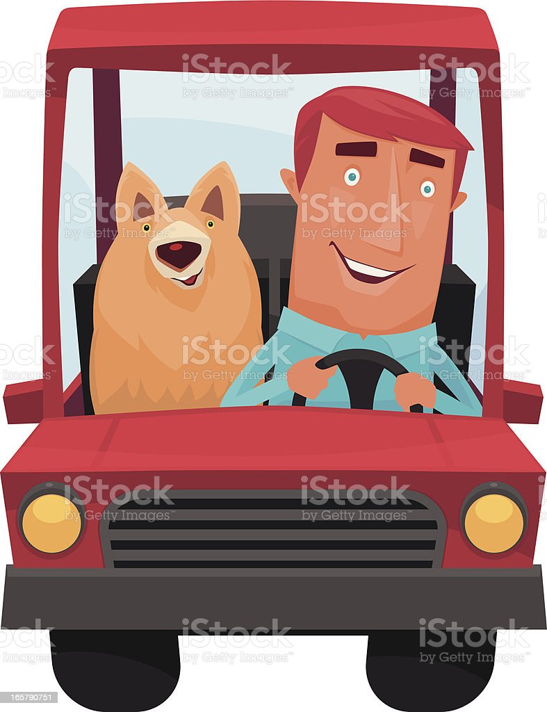man driving royalty-free stock vector art
