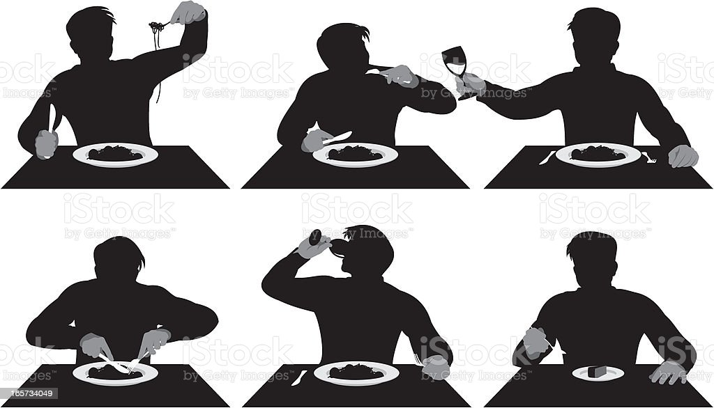 Man Eating royalty-free stock vector art