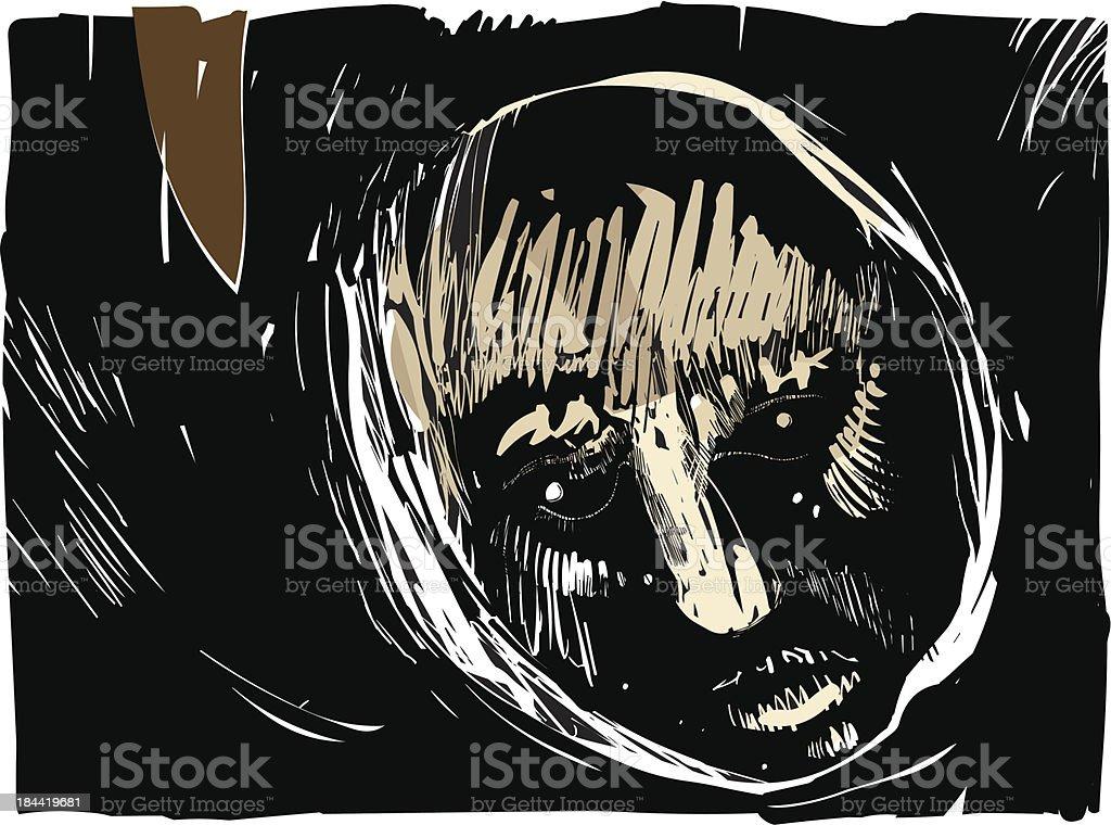 man face artistic drawing illustration vector art illustration