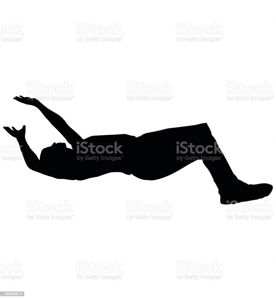 man falling down vector art illustration