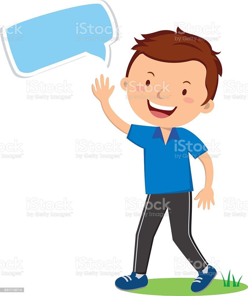 Man gesturing. Sport teacher. vector art illustration