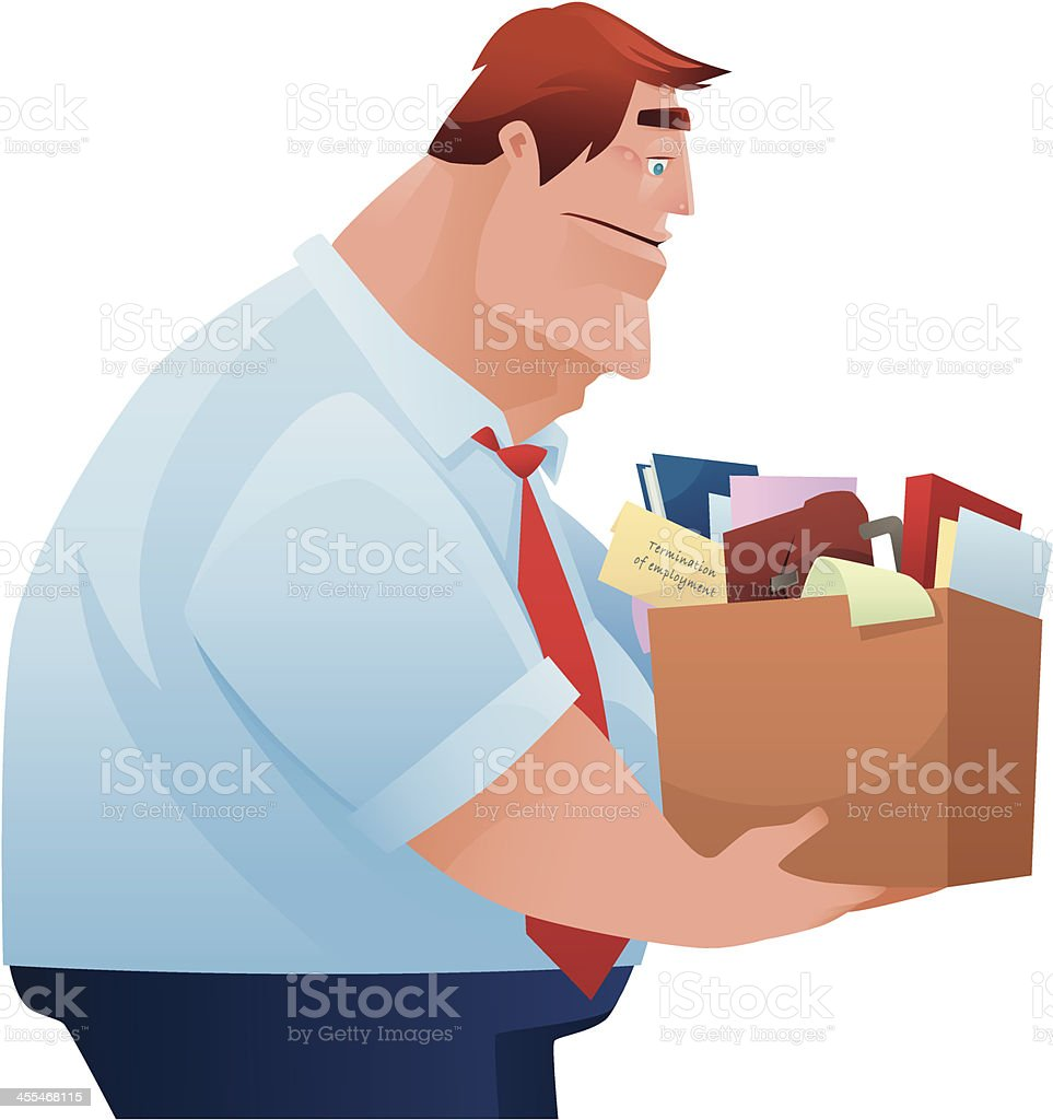 man getting fired royalty-free stock vector art