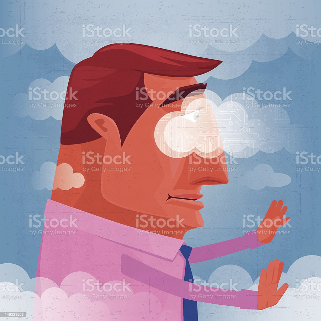 man getting lost royalty-free stock vector art