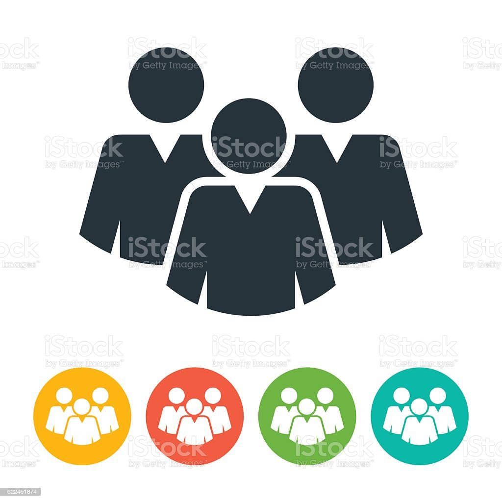 Man Group Icon vector art illustration