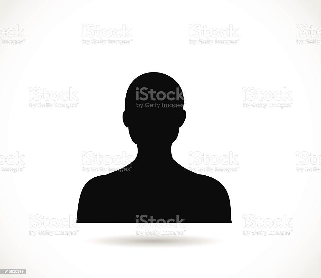 Man head silhouette vector vector art illustration