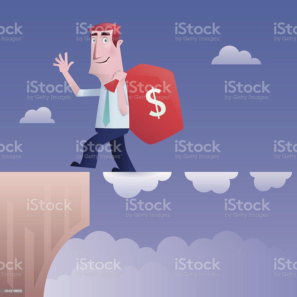 man holding bag of money royalty-free stock vector art