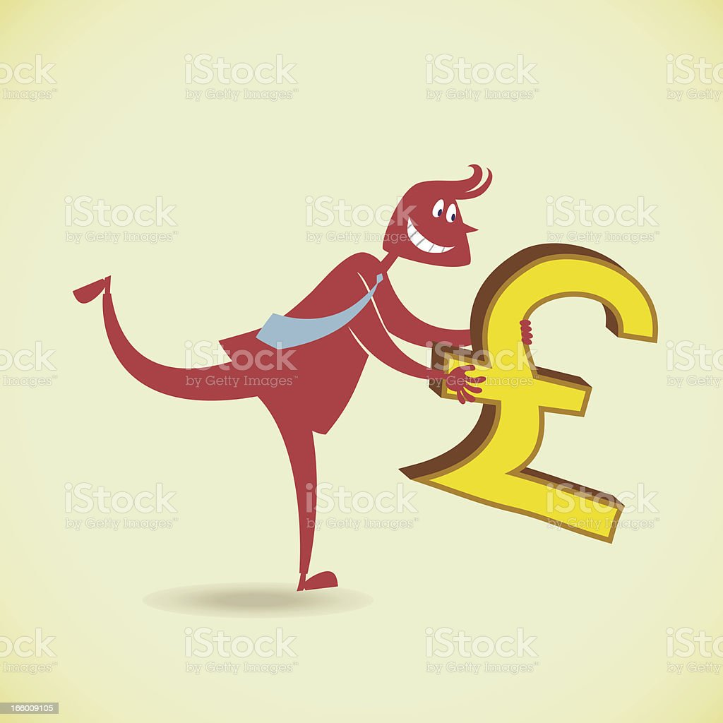 Man holding money royalty-free stock vector art