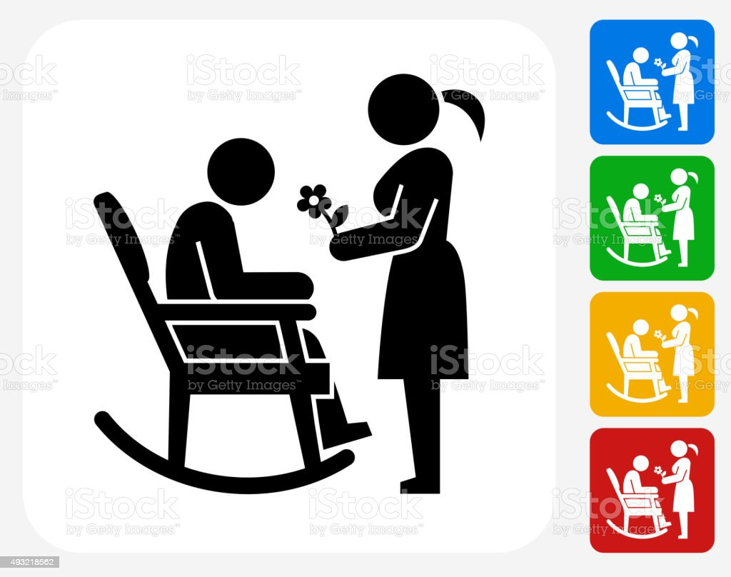 Man Icon Flat Graphic Design vector art illustration