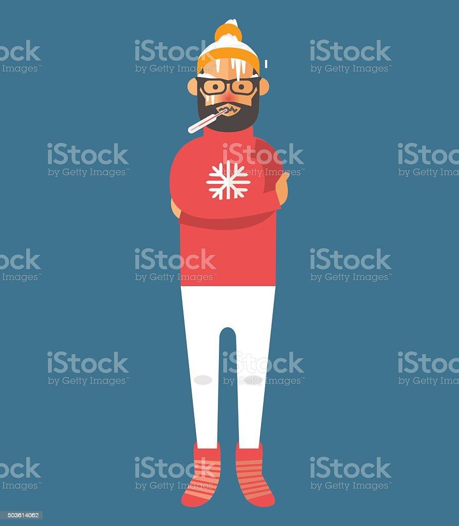 Man illness vector illustration vector art illustration