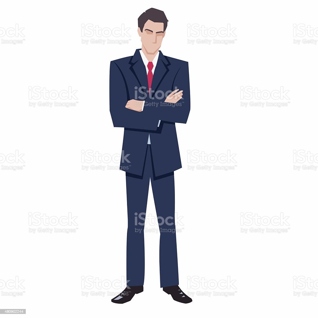 man in a business suit royalty-free stock vector art