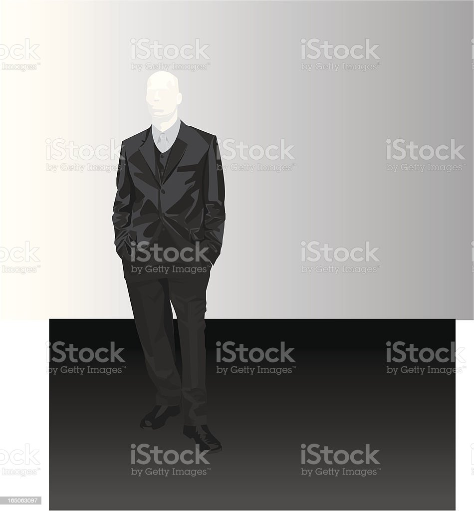 Man in a dark suit royalty-free stock vector art