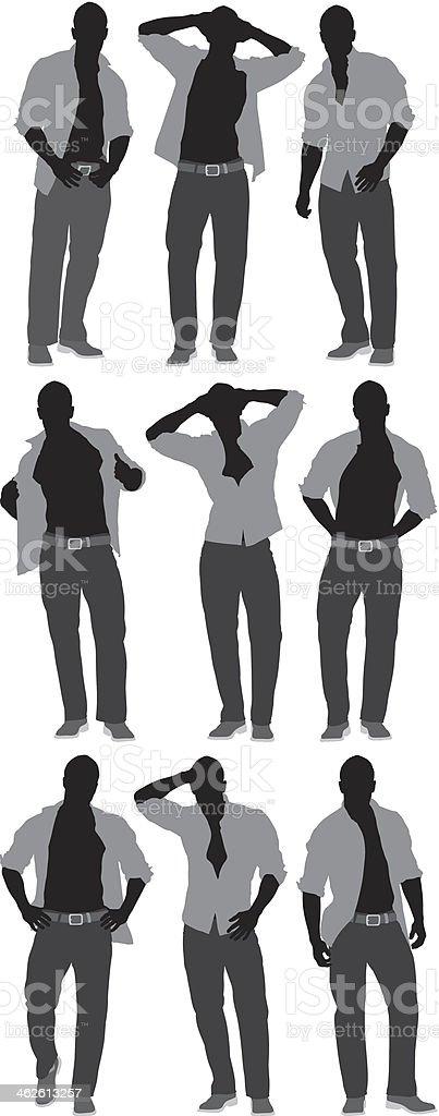 Man in casual wear vector art illustration