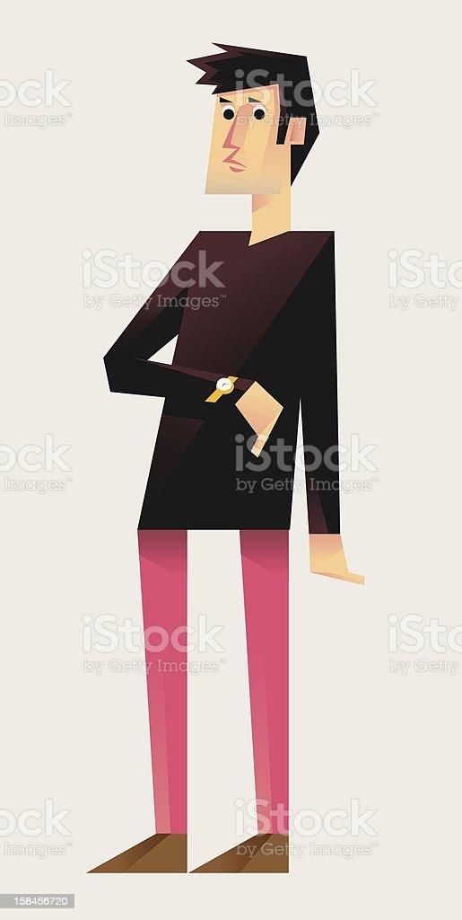 Man in Longsleeve (2/5) royalty-free stock vector art