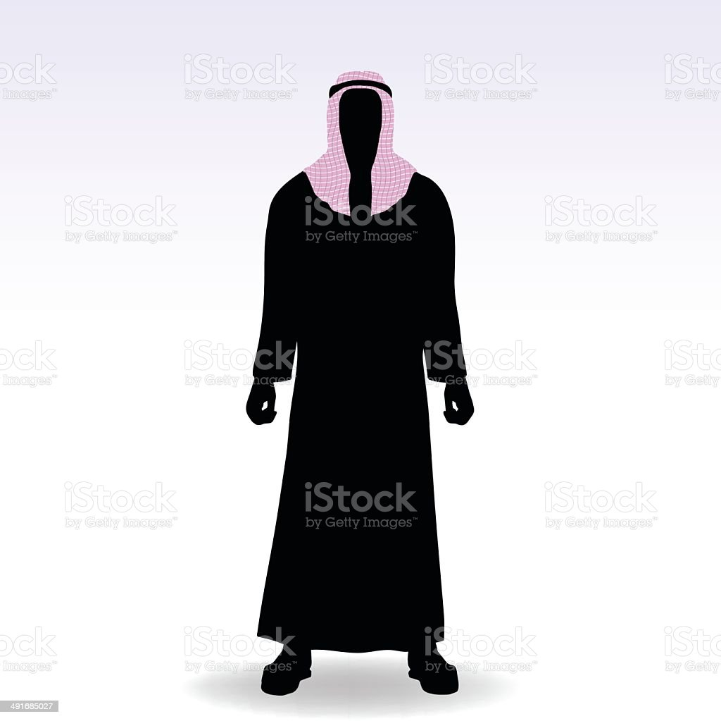 man in middle east style clothing dress royalty-free stock vector art