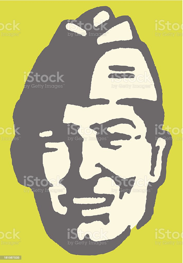 Man in Military Cap royalty-free stock vector art