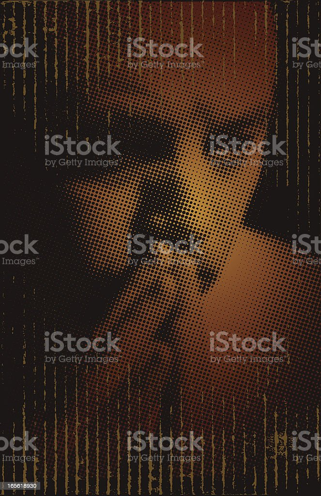 Man in Prayer or Deep Thought royalty-free stock vector art