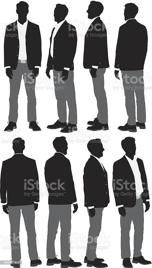 Man in smart casual vector art illustration