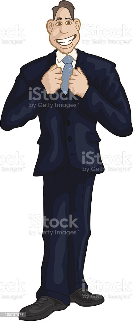 Man in Suit royalty-free stock vector art
