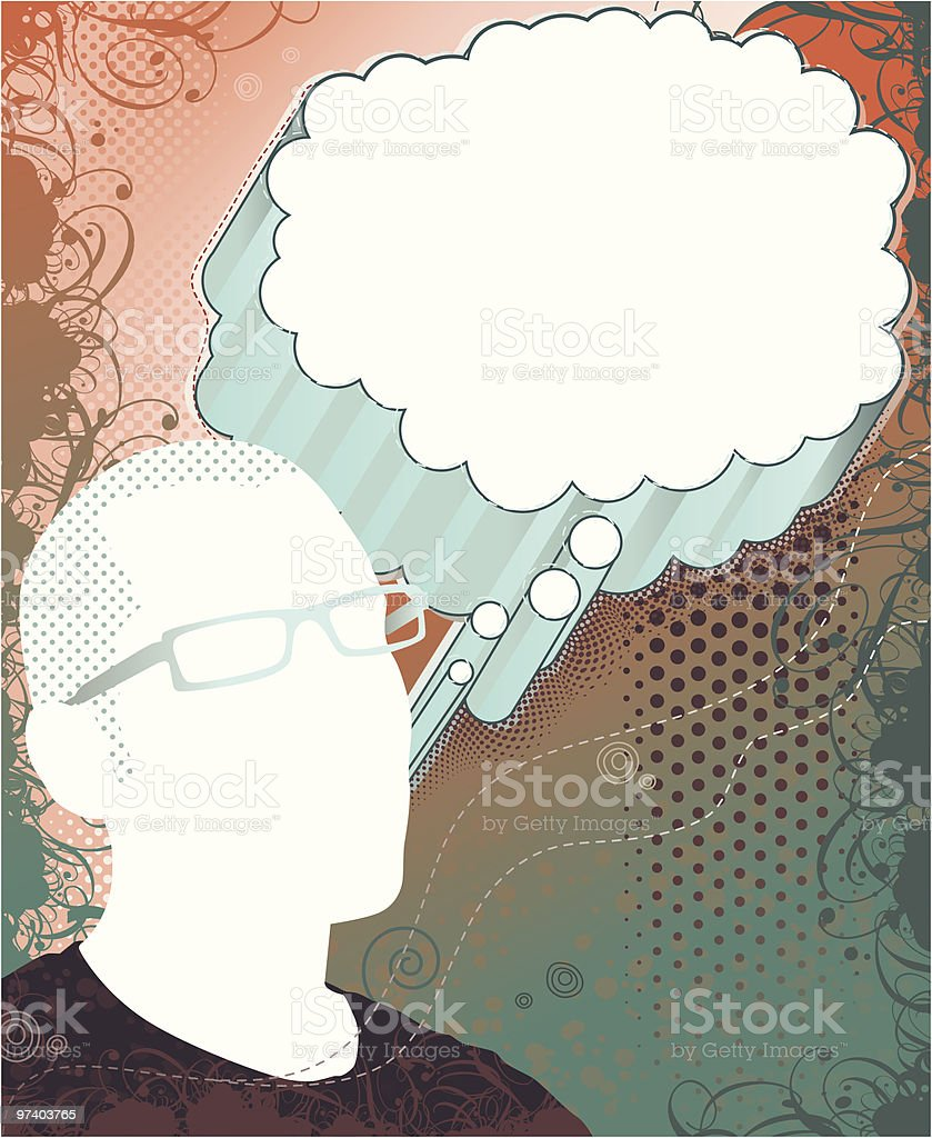 Man in Thought royalty-free stock vector art
