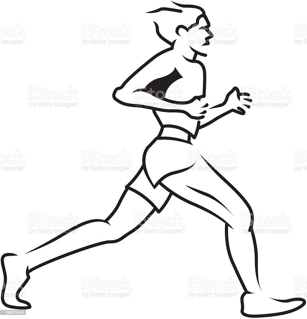Man Jogging royalty-free stock vector art