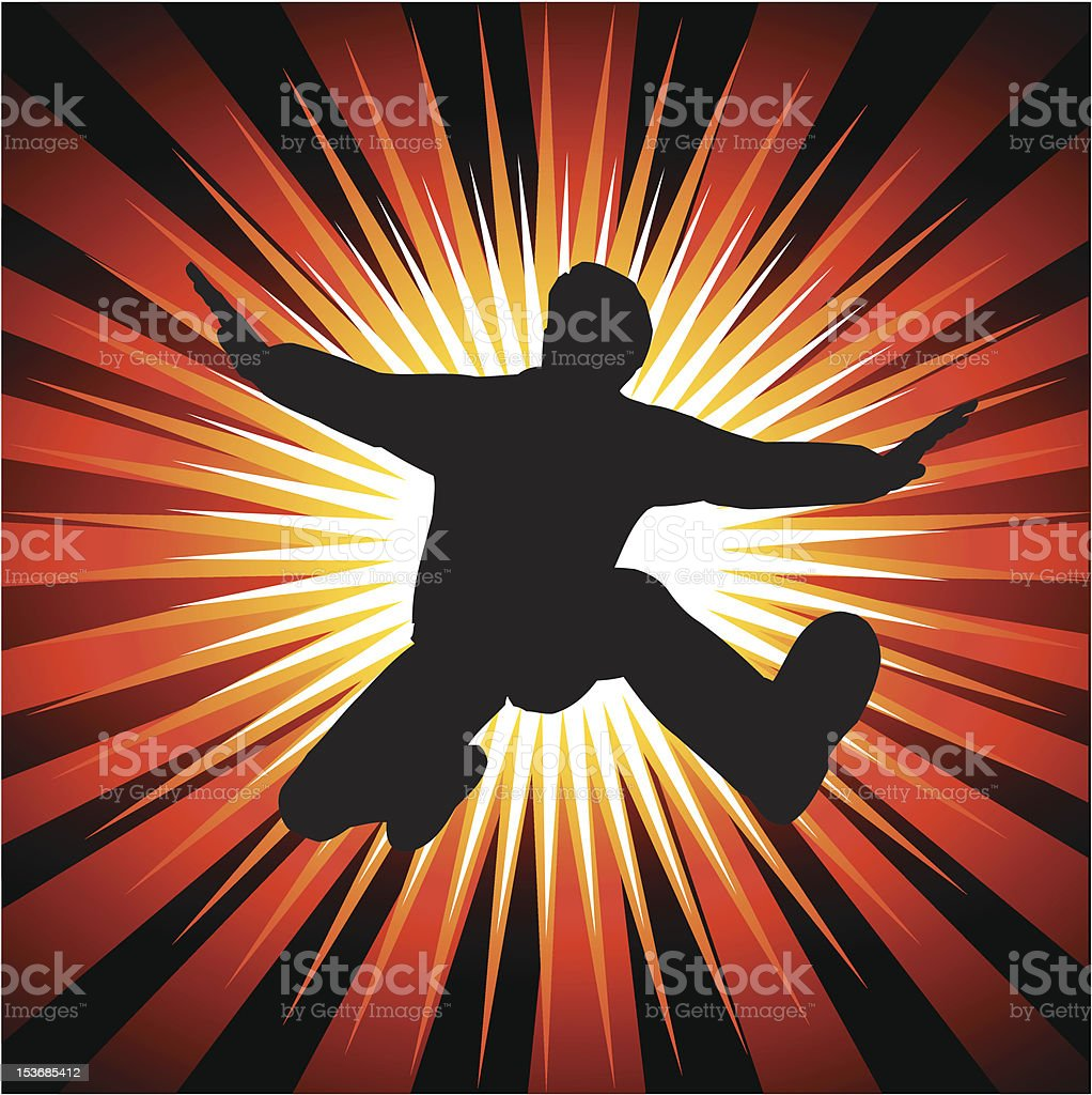 Man jumping out - vector royalty-free stock vector art