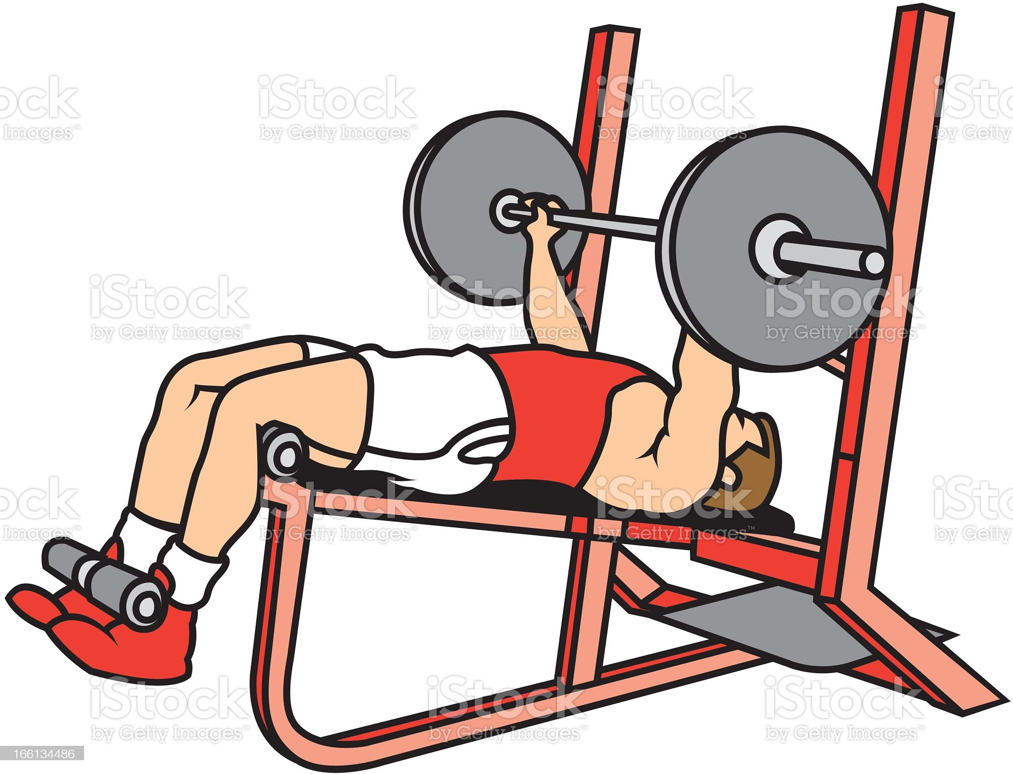 Man Lifting Weights royalty-free stock vector art