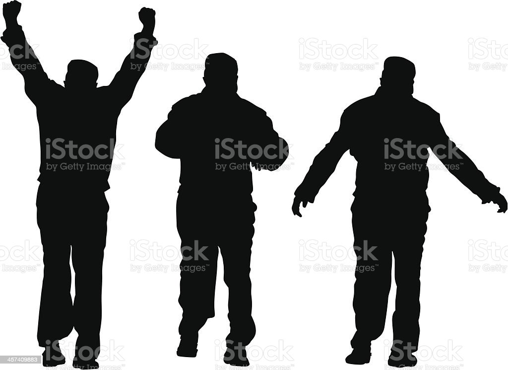Man of sport exercises royalty-free stock vector art