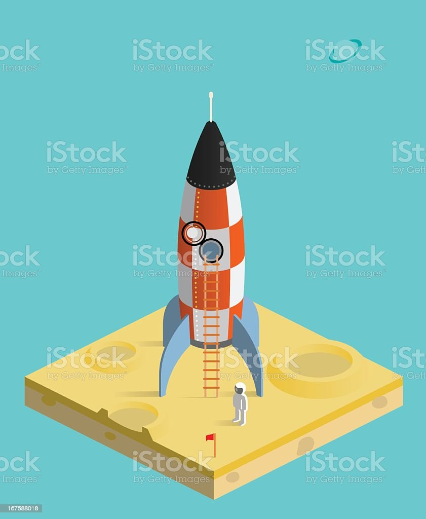 man on the moon royalty-free stock vector art