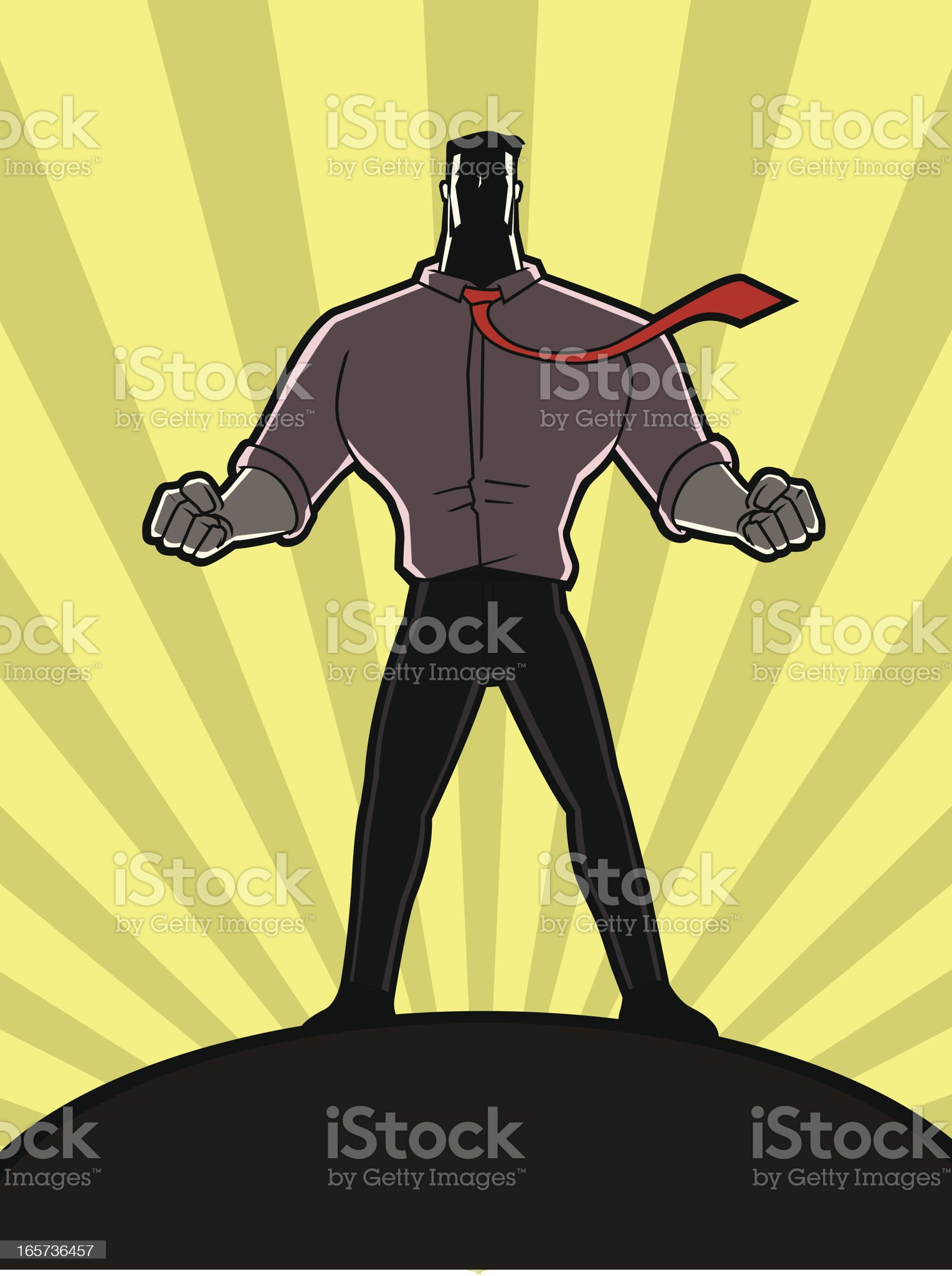 Man on Top royalty-free stock vector art