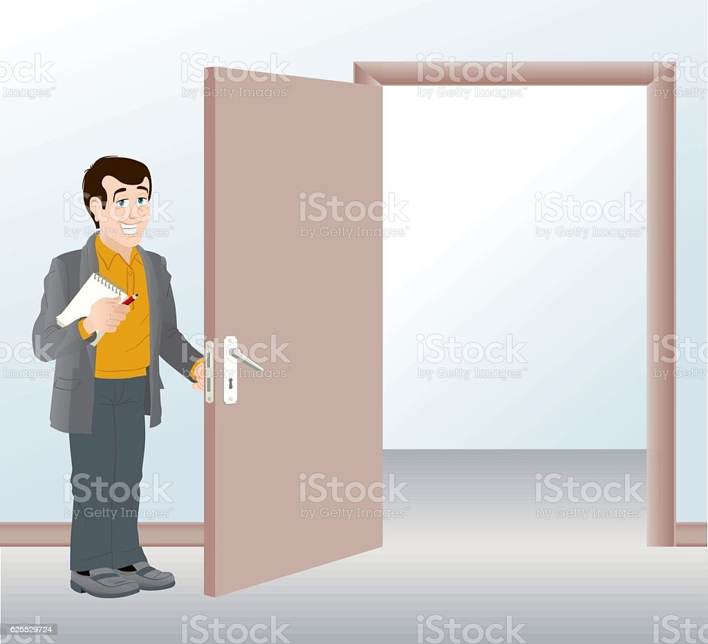 Open Door Clipart holding door open clip art, vector images & illustrations - istock
