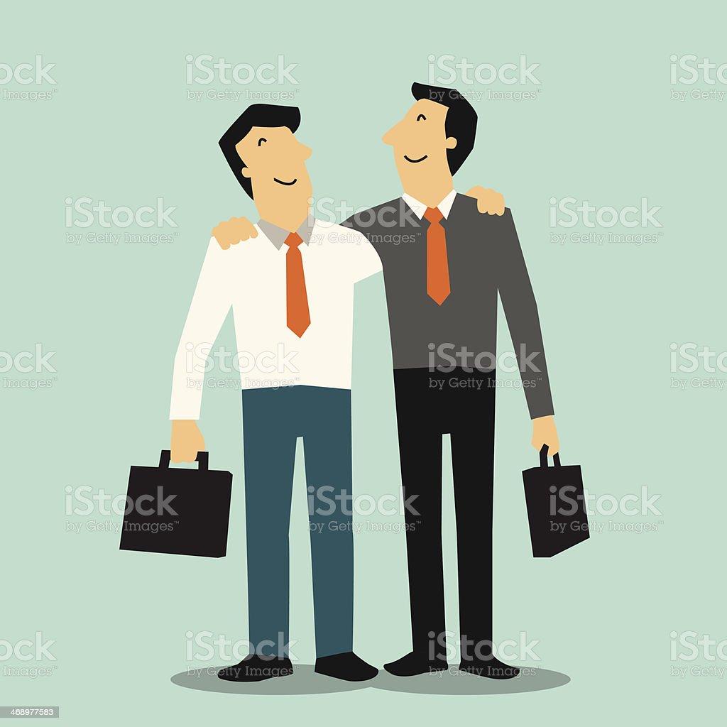 Man partnership vector art illustration