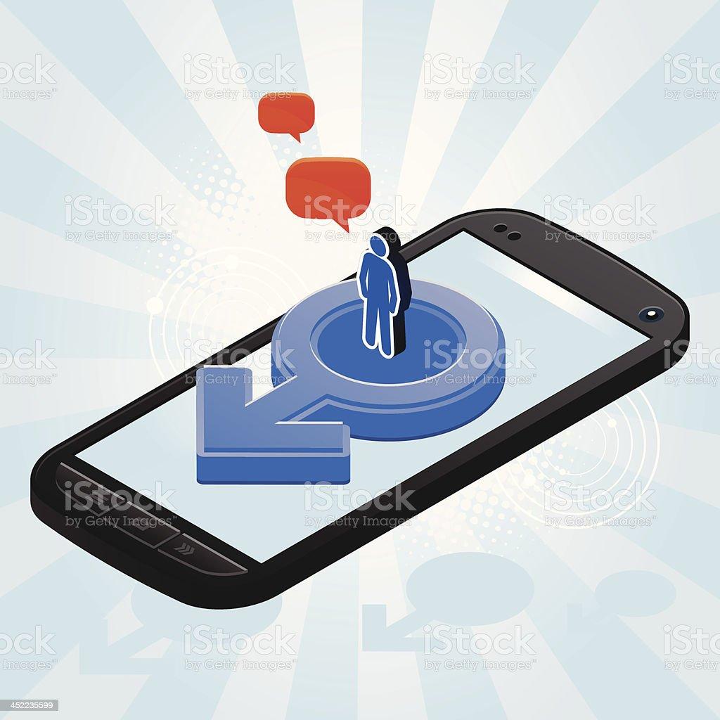Man phone royalty-free stock vector art