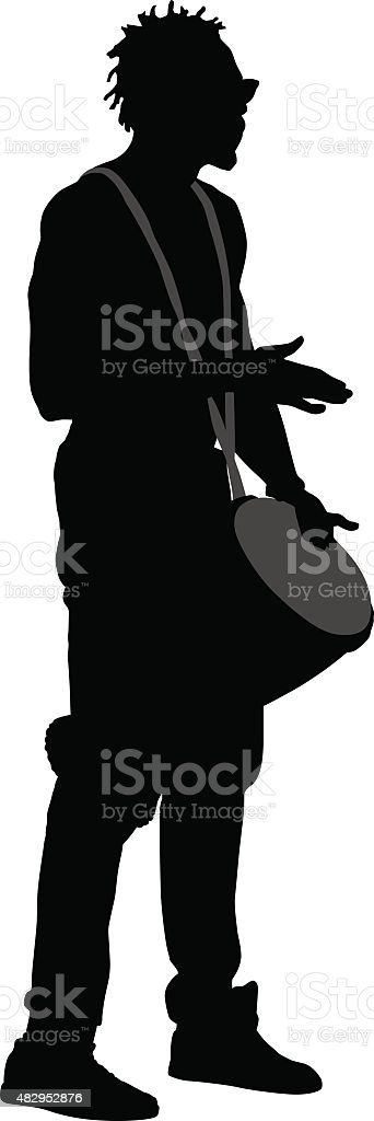 Man Playing Drum vector art illustration