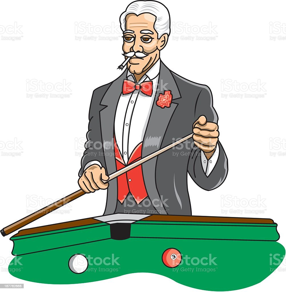 Man Playing Pool royalty-free stock vector art