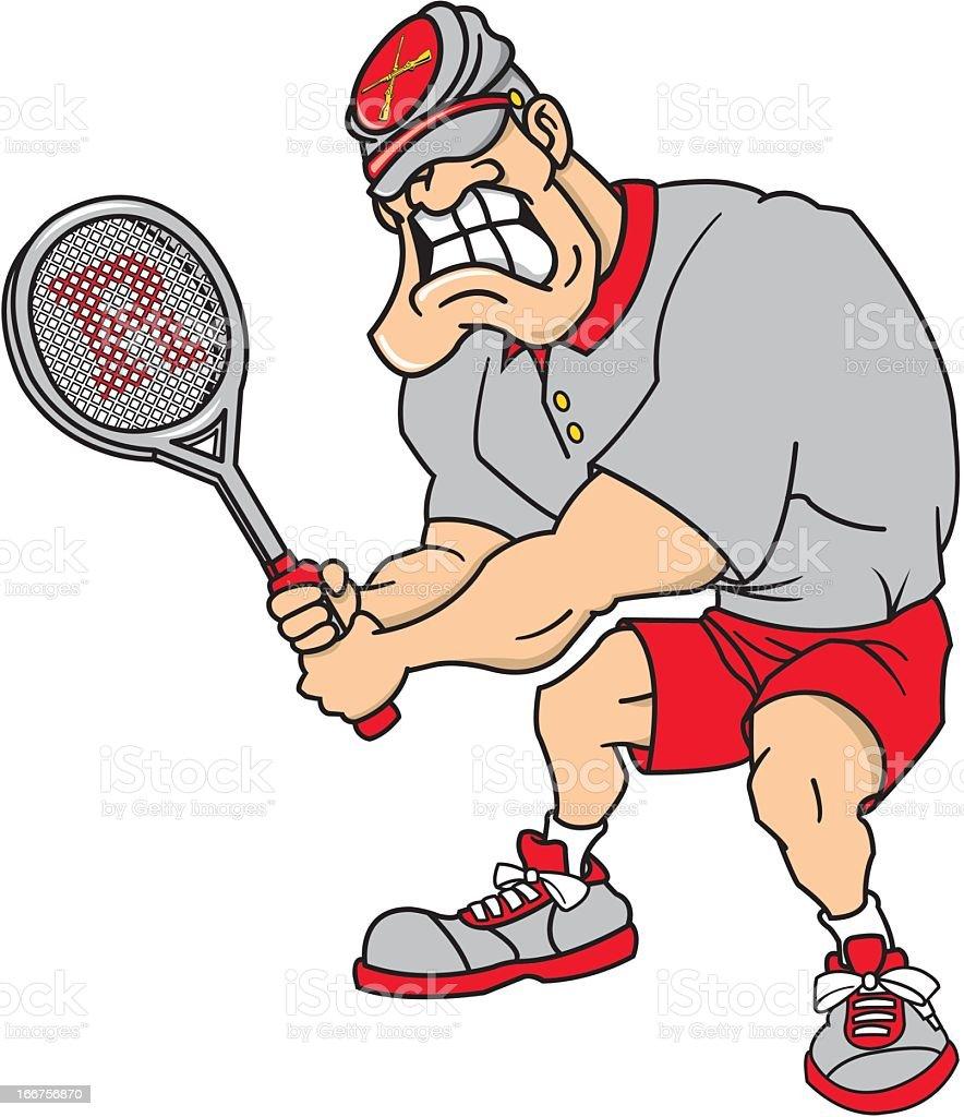 Man Playing Tennis royalty-free stock vector art