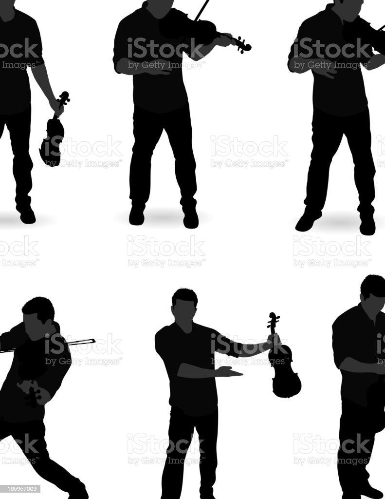 Man playing Violin royalty-free stock vector art