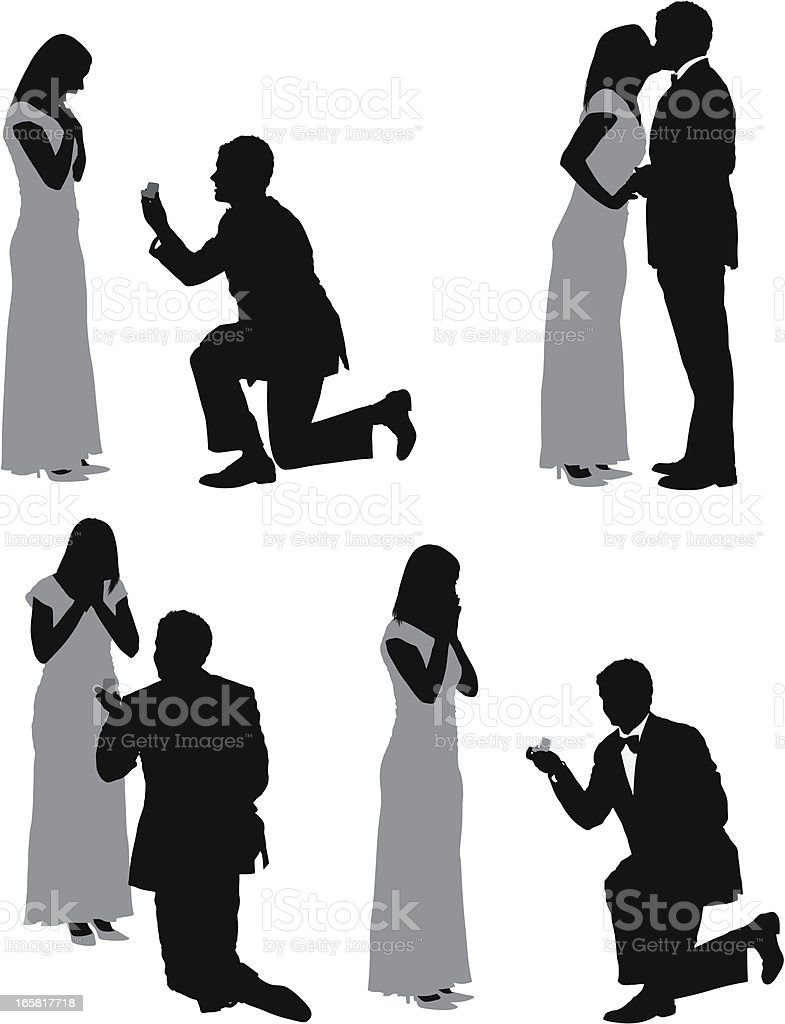 Man proposing his girlfriend royalty-free stock vector art