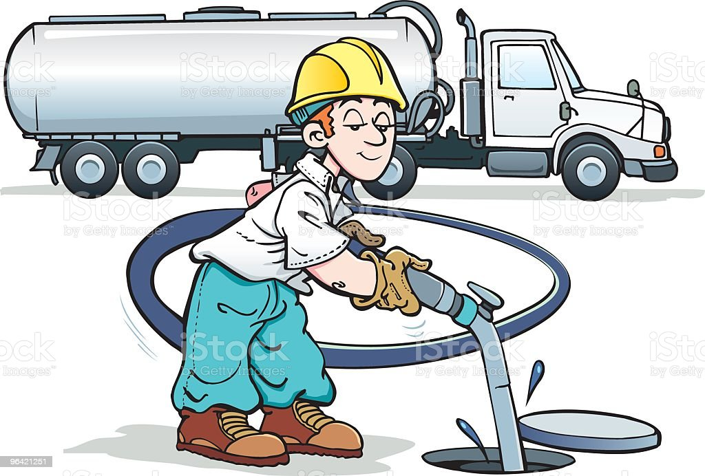 Man pumping gas royalty-free stock vector art
