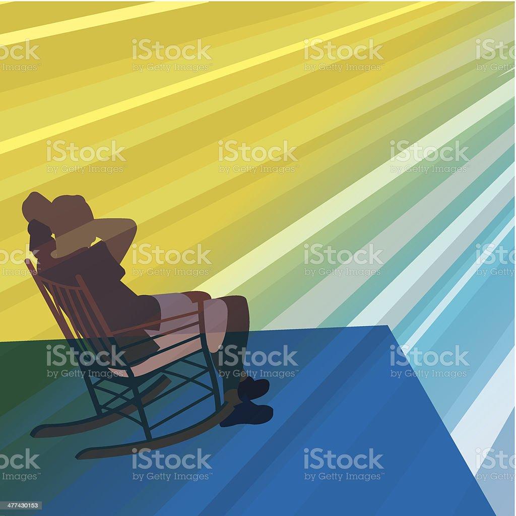 Man Rocking Chair vector art illustration
