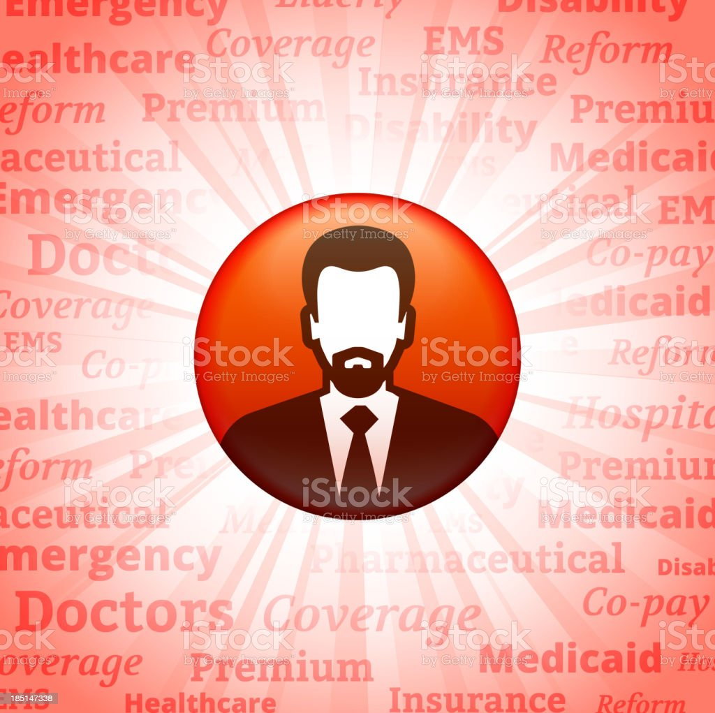 Man royalty free vector art on Healthcare Background royalty-free stock vector art