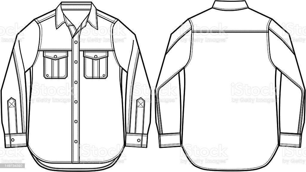 Camicia uomo illustrazione illustrazione royalty-free