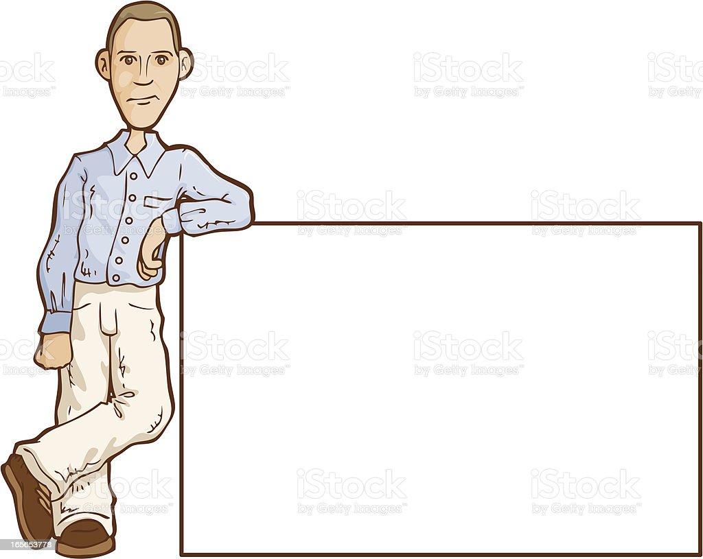 Man Sign vector art illustration